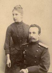 Е.К. и А.В. Жиркевич. Фотография. 1888