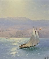 И.К. АЙВАЗОВСКИЙ. Крым. Вид на Алупку с моря. 1890