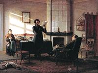 Н. Н. ГЕ. А. С. Пушкин в селе Михайловском, 1875