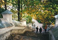 Лестница в Святогорском монастыре. Пушкинские горы.