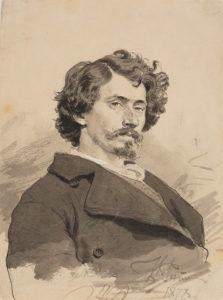 И.Е. РЕПИН. Автопортрет. 1878