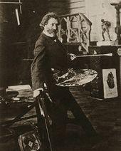 И.Е. Репин в мастерской. 1907–1908