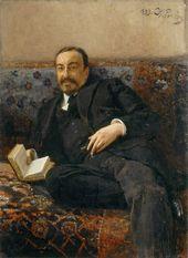 И.Е. РЕПИН. Портрет вице-президента Академии художеств графа И.И. Толстого. 1899