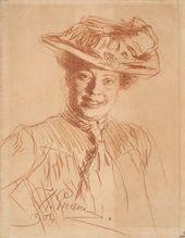 И.Е. РЕПИН. Портрет Н.Б. Нордман (в шляпе). 1901