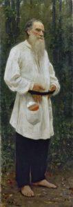 И.Е. РЕПИН. Лев Николаевич Толстой босой. 1901