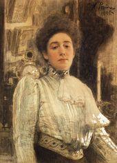 И.Е. РЕПИН. Портрет А.П. Боткиной. 1901