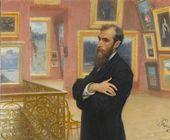 И.Е. РЕПИН. Портрет П.М. Третьякова. 1901