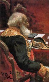 И.Е. РЕПИН. Портрет П.П. Семенова-Тян-Шанского. 1901