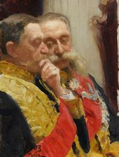 И.Е. РЕПИН. Портрет И.Л. Горемыкина и Н.Н. Герарда. 1903