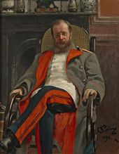 И.Е. РЕПИН. Портрет Ц.А. Кюи. 1890