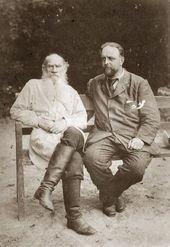 Л.Н. Толстой и В.Г. Чертков. Июль 1906
