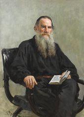 И.Е. РЕПИН. Портрет Л.Н. Толстого. 1887 Холст, масло. 124 × 88. ГТГ