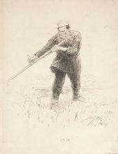 И.Е. РЕПИН. Л.Н. Толстой на косьбе. 1887