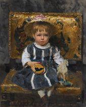 И.Е. РЕПИН. Портрет В.И. Репиной в детстве. 1874