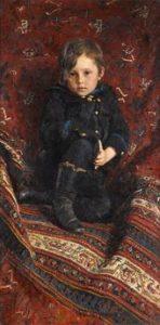 И.Е. РЕПИН. Портрет Ю.И. Репина в детстве. 1882