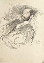 И.Е. РЕПИН. Портрет Д.С. Мережковского. Около 1900