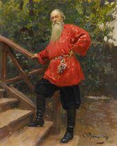 И.Е. РЕПИН. В.В. Стасов в деревне Старожиловка близ Парголова. 1889