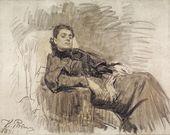И.Е. РЕПИН. Портрет Элеоноры Дузе. 1891