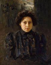 И.Е. РЕПИН. Портрет Н.И. Репиной, дочери художника. 1898