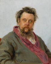 И.Е. РЕПИН. Портрет композитора М.П. Мусоргского. 1881