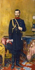 И.Е. РЕПИН. Портрет императора Николая II. 1895