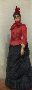 И.Е. РЕПИН. Портрет баронессы В.И. Икскуль фон Гильденбандт. 1889