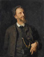 И.Е. РЕПИН. Портрет Г.Г. Мясоедова. 1884 — 1886