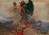 И.Е. РЕПИН. Иди за мною, Сатано! 1895