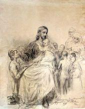 И.Е. РЕПИН. Христос, благословляющий детей. 1897