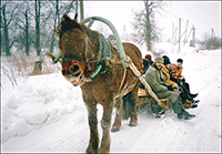 Путешествие по зимнему тракту в деревню Иваньково. 2004 г.