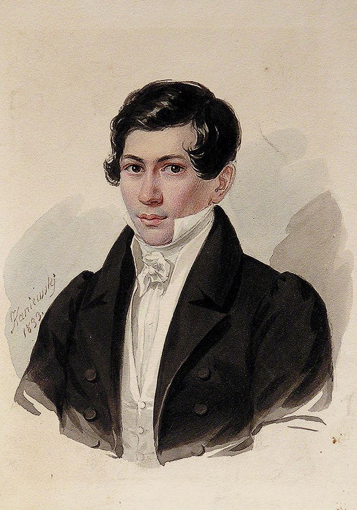 Ян Каниевский. Портрет Н. В. Кукольника. 1833 г.