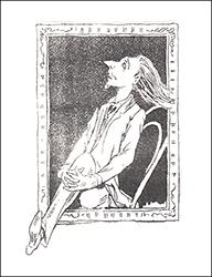 Карикатура на репинский портрет К. Фофанова