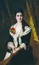 К. Е. Маковский. Портрет А. В. Панаевой-Карцовой