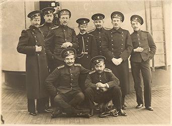 Сергей Жиркевич с товарищами